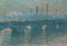 Monet, Il ponte di Waterloo, tempo grigio | Pont de Waterloo, temps gris | Waterloo Bridge, gray weather