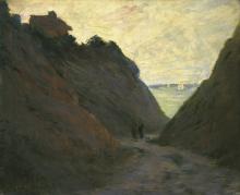 Monet, Il sentiero incassato nella falesia di Varengeville.png