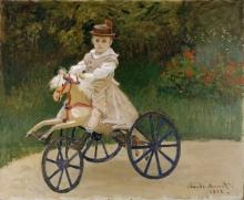 Monet, Jean Monet con il suo cavallo di legno.jpg