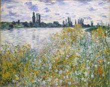 Monet, L'Ile aux Fleurs nei pressi di Vetheuil | L'Île aux Fleurs près de Vétheuil | Île aux Fleurs near Vétheuil