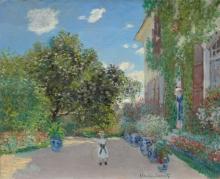 Monet, La casa dell'artista ad Argenteuil   The artist's house at Argenteuil