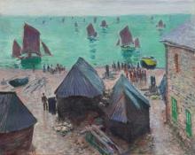 Monet, La partenza delle barche, Etretat | Le départ des bateaux, Étretat | The departure of the boats, Étretat