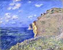 Monet, La scogliera a Fecamp | La falaise à Fécamp | The cliff in Fécamp