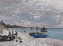 Claude Monet, La spiaggia a Sainte Adresse | La plage à Sainte-Adresse | The beach at Sainte-Adresse