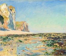 Monet, Litorale e scogliere di Pourville di mattina.jpg