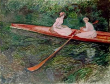 Monet, Lo skiff rosa | Le skiff rose | The pink skiff