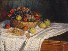Monet, Mele e uva | Pommes et raisins | Apples and grapes