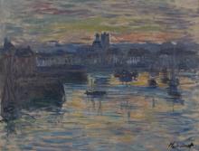 Monet, Porto di Dieppe, sera | Port de Dieppe, le soir | Port of Dieppe, evening