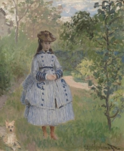 Monet, Ragazza con cane | Fille avec un chien | Girl with dog