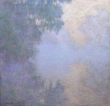 Monet, Ramo della Senna vicino Giverny (Foschia) | Branche de la Seine près de Giverny (Brume) | Branch of the Seine near Giverny (Mist)