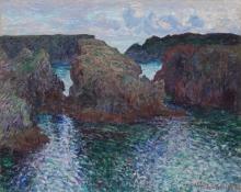 Monet, Scogli a Port Golphar, Belle Île | Rochers à Port Goulphar, Belle-Île | Rocks at Port-Goulphar, Belle-Île