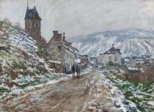 Monet, Strada di villaggio, Vétheuil   Bygata, Vétheuil   Rue de village, Vétheuil   Village street, Vétheuil