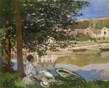 Monet, Sulla riva della Senna, Bennecourt | Au bord de la Seine, Bennecourt | On the bank of the Seine, Bennecourt