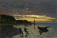 Monet, Traino di una barca.jpg