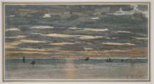 Claude Monet, Tramonto sul mare | Coucher de soleil en mer | Sunset at sea