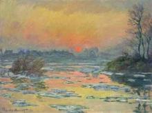 Monet, Tramonto sulla Senna in inverno | Coucher de soleil sur la Seine en hiver | Sunset on the Seine in winter