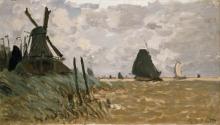 Claude Monet, Un mulino vicino Zaandam   A mill near Zaandam   Un moulin près de Zaandam