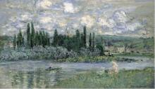 Claude Monet, Veduta di Vetheuil | Vue de Vétheuil | Ansicht von Vétheuil