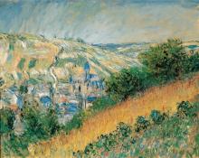 Monet, Veduta di Vetheuil | Vue de Vétheuil | View of Vétheuil | Blick auf Vétheuil