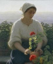 Angelo Morbelli, Dal giardino alla Colma. Il geranio
