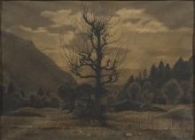 Angelo Morbelli, Paesaggio con alberi