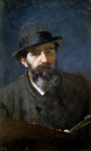Domenico Morelli, Autoritratto [1880-1885 circa]