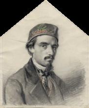 Domenico  Morelli, Autoritratto a 28 anni