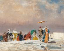Domenico Morelli, La sultana che torna dal bagno