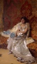 Domenico Morelli, Ritratto della signora Teresa Maglione Oneto
