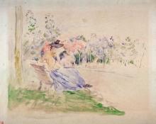 Morisot, Al Bois de Boulogne | Au Bois de Boulogne | In the Bois de Boulogne