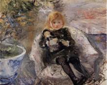 Morisot, Bambina con la bambola | Jeune fille à la poupée | Little girl with a doll
