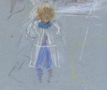Morisot, Bambina di spalle | Fillette de dos