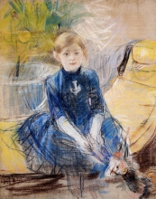 Morisot, Bambina in abito blu.jpg