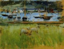 Morisot, Darsena nel porto di Fecamp.jpg