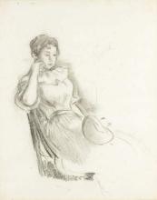 Morisot, Donna seduta con cappello.jpg