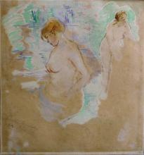 Berthe Morisot, Donne che fanno il bagno   Femmes au bain