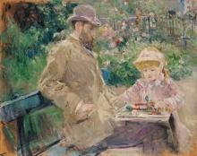 Morisot, Eugene Manet e sua figlia nel giardino di Bougival.jpg