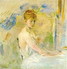 Morisot, Giovane donna al suo risveglio.jpg