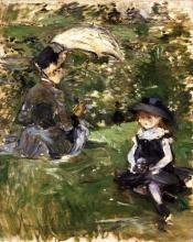Morisot, Giovane donna e bambina su un isola.jpg