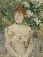 Morisot, Giovane donna in abito da ballo | Jeune femme en toilette de bal | Young girl in a ball gown