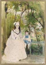 Morisot, Giovane donna in un paesaggio.jpg