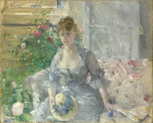 Morisot, Giovane donna seduta su un sofa.jpg