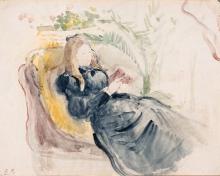 Morisot, Julie Manet, la lettura sulla sedia a sdraio.jpg