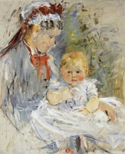 Berthe Morisot, La balia | Ammen | The wet nurse