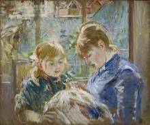 Berthe Morisot, La figlia dell'artista, Julie, con la sua tata | The artist's daughter, Julie, with her nanny