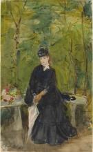 Morisot, La sorella dell'artista Edma seduta in un parco.jpg