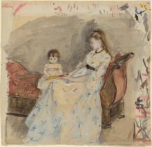 Morisot, La sorella dell'artista, Edma, con sua figlia, Jeanne.jpg
