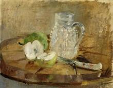 Morisot, Natura morta con una mela tagliata e una brocca.jpg