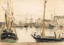 Morisot, Navi nel porto.jpg