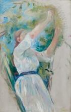 Morisot, Ragazza che coglie ciliegie [1891].png